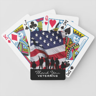 Thank you Veterans - Soldiers silhouette Bicycle Playing Cards