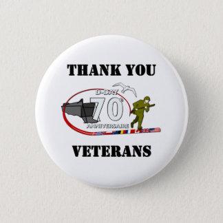 Thank you veterans - Thank you veterans Pinback Button