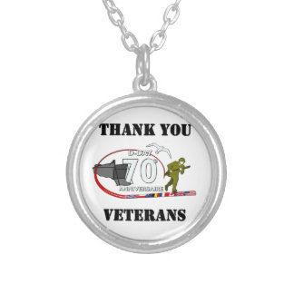Thank you veterans - Thank you veterans Round Pendant Necklace