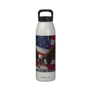 Thank You Veterans Reusable Water Bottles