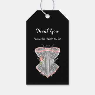 Thank You Vintage Corset Personal Bridal Shower Pack Of Gift Tags