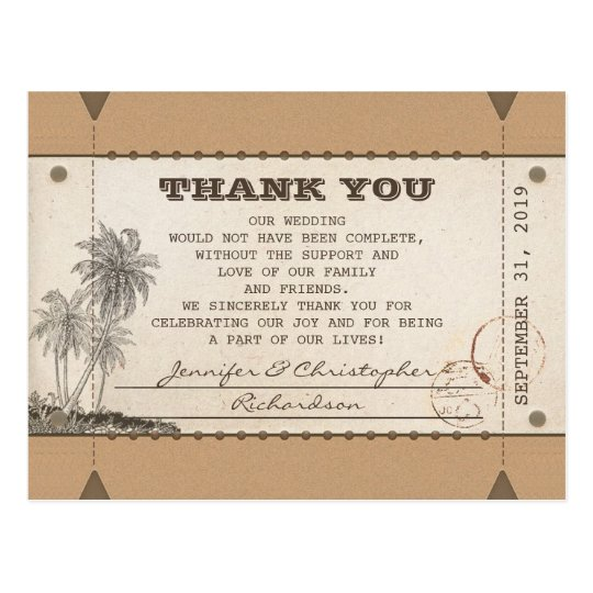 thank you vintage postcards tickets