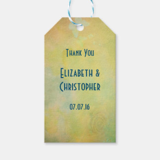 Thank You Vintage Style Faded Yellow Watercolor Gift Tags