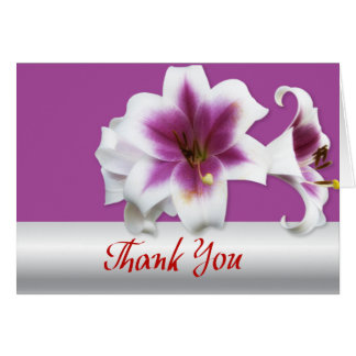 Thank you violet lily greeting card