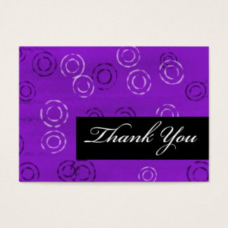 Thank You-violet retro Business Card