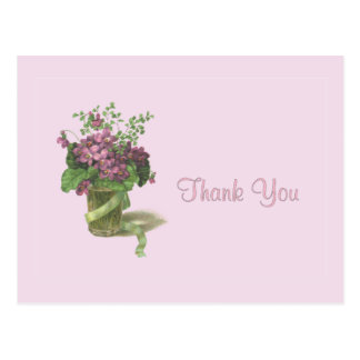 Thank You Violets Postcard