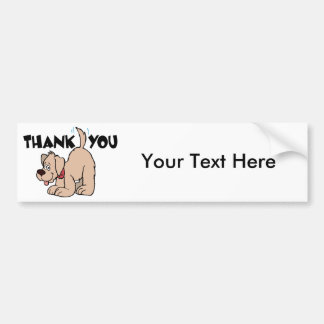Thank You ~ Wagging Tail Dog Bumper Sticker