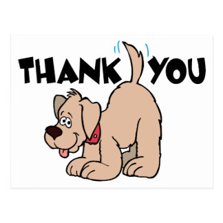 Thank You ~ Wagging Tail Dog Postcard