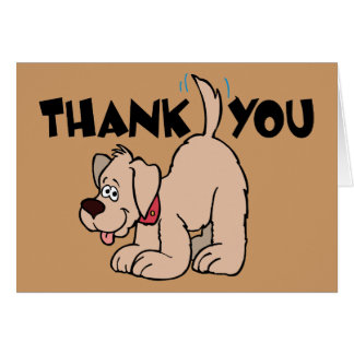 Thank You ~ Wagging Tail Dog Stationery Note Card