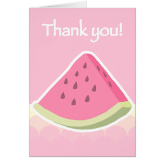 Thank You Watermelon Slice Stationery Note Card