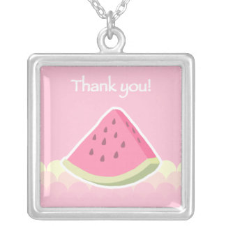 Thank You Watermelon Slice Necklace