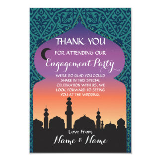 Thank You Wedding Arabian Nights Teal Card