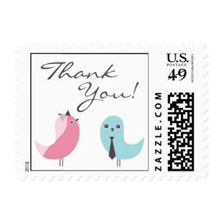 Thank You Wedding Birds Small Postage