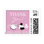 Thank You Wedding Birds Small Postages Stamps