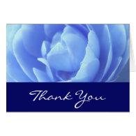 Thank you, wedding, blue rose greeting cards