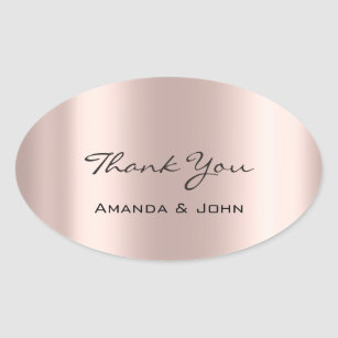 63589872a603 Rose Gold Oval Stickers   Zazzle