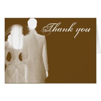 Thank you - wedding card