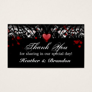 Thank You Wedding Cards Halloween Blood Splatter