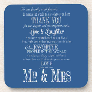 Thank you wedding coasters