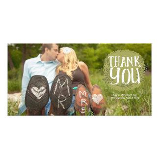 Thank You Wedding Designer Photo Cards