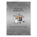 Thank you Wedding Dj Music Greeting Card