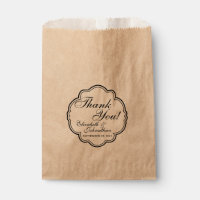 Thank You Wedding Favor Candy Bar Buffet Bags