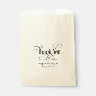 Thank You Wedding Favor Favor Bags
