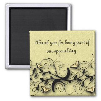 Thank You wedding favor magnet