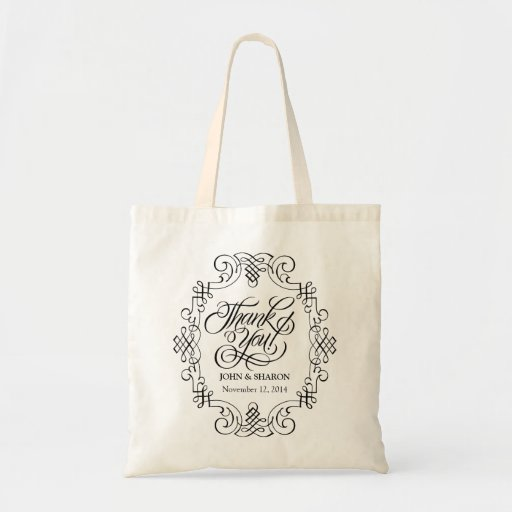Thank You Wedding Favor Party Bags Zazzle