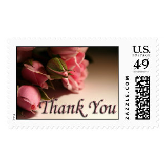 Thank You Wedding Gift Acknowledgment Rose Thanks Stamp