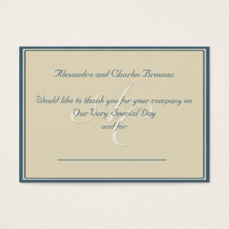 Thank You Wedding Gift Business Card