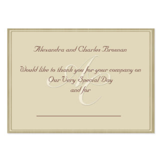 Thank You Wedding Gift Large Business Card