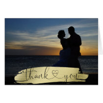 THANK YOU Wedding Gold Brush Stroke| PHOTO
