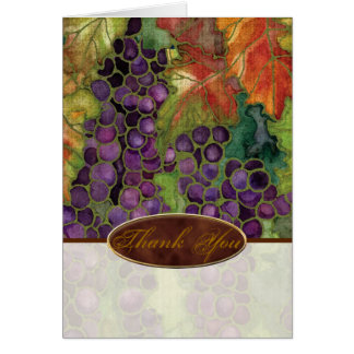 Thank You Wedding Invitation Autumn Grape Leaf Stationery Note Card