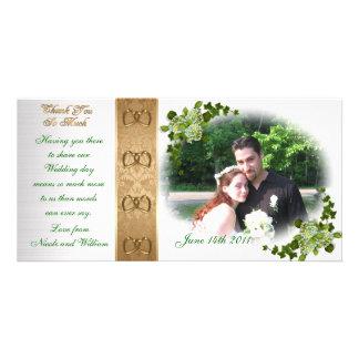 Thank you wedding Photo Card Hydrangeas