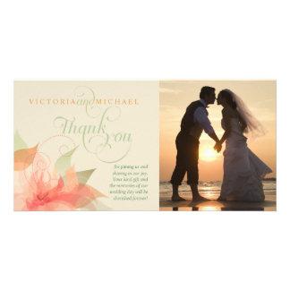 Thank You Wedding Photo Card - Orange Ice 2
