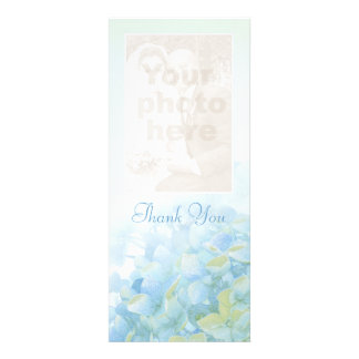 Thank you wedding photo hydrangea card personalized announcement
