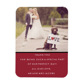 Thank You Wedding Photo Magnet