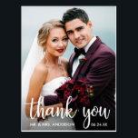 "Thank You Wedding Photo Modern Script Postcard<br><div class=""desc"">Thank You Wedding Photo Modern Script Postcard</div>"