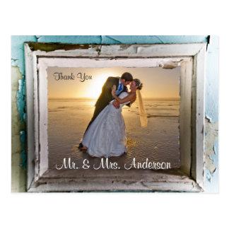 Thank You Wedding Postcard Unique Frame 4