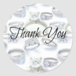 Thank You Wedding Rings Stickers