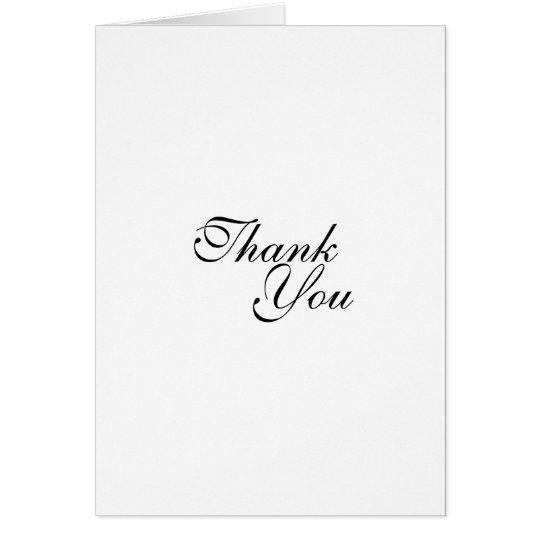 Thank you wedding template card