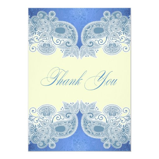 Thank You Wedding Victorian Flat Card Personalized Invitations