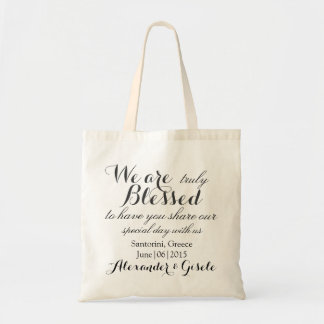 Thank You Welcome Wedding Tote Favor Bag