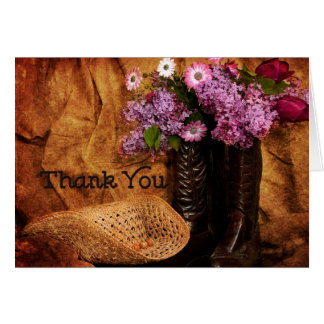 Thank You - Western - Note Cards Greeting Card