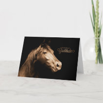 Thank You Western Sepia Toned Horse Blank
