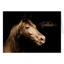 Thank You Western Sepia Toned Horse Blank Card