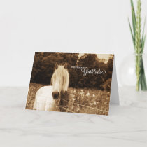 Thank You Western Sepia White Horse Blank