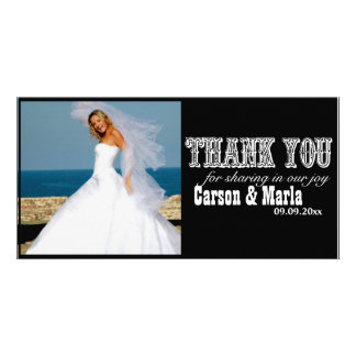 """""""Thank You"""" Western Style (Special Occasion) Photo Card"""