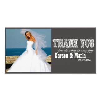 Thank You Western Style Special Occasion Photo Card